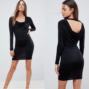 ASOS cowl neck plunge mini dress size 4